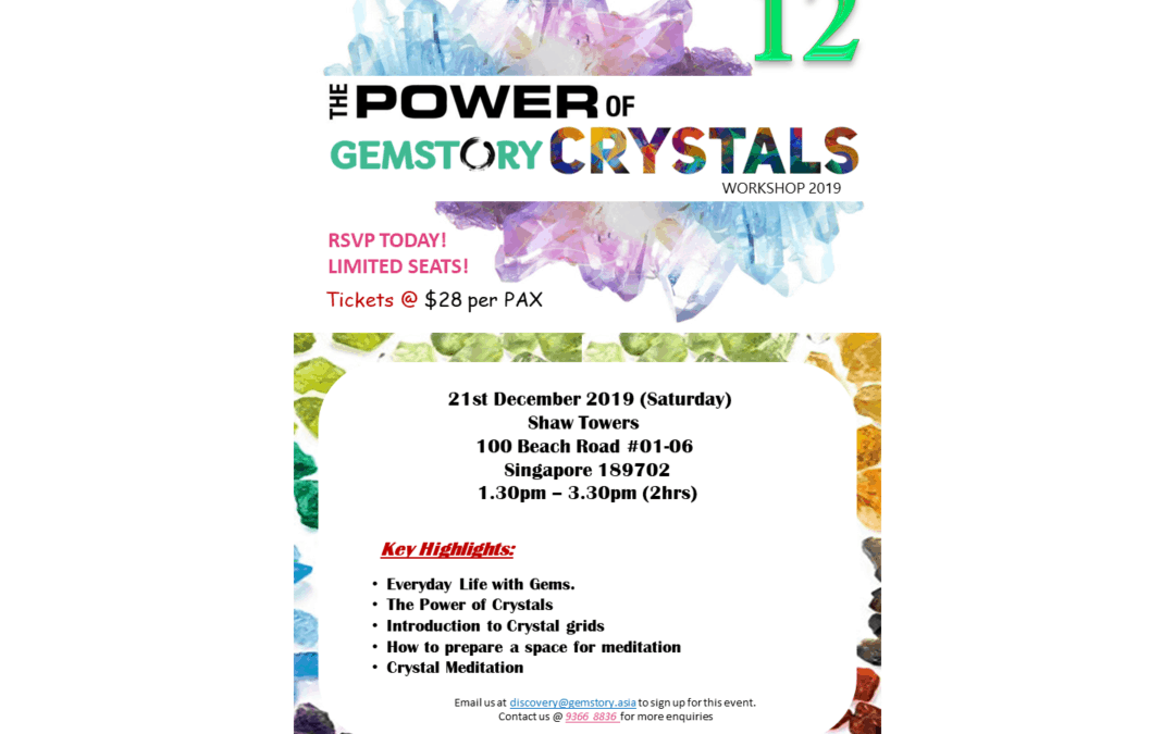 December Workshop – The Power of Crystals