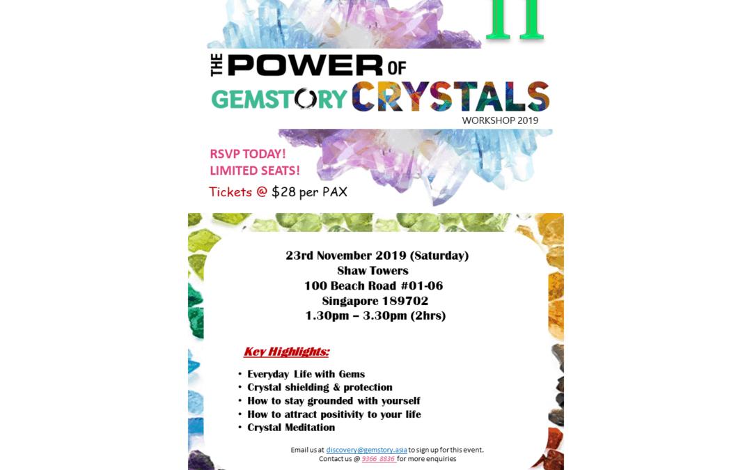 November Workshop – The Power of Crystals