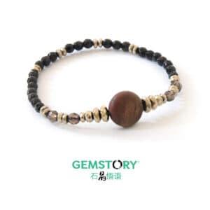Crystal Bracelet, onyx, protection, grounding